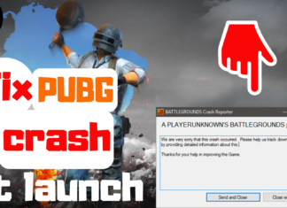 pubg crashing on launch